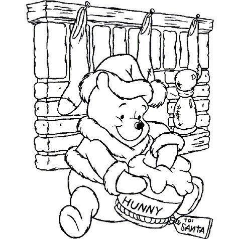 dibujos navidad colorear gratis winnie