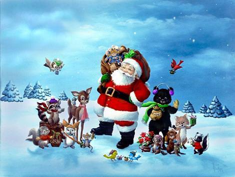 Fondo de pantalla Papá Noel