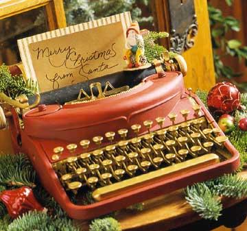ideas decoración navidad maquina escribir