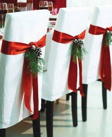 ideas decoración navidad sillas