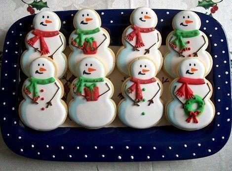 imagenes galletas navidad muñeco nieve