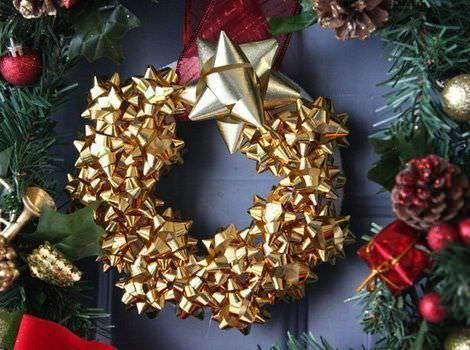 manualidades faciles navidad corona