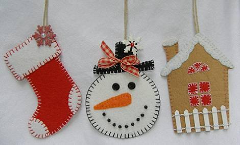 Manualidades de fieltro para navidad for Decoraciones navidenas para hacer en casa