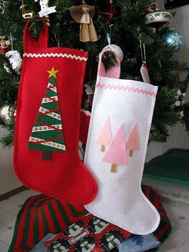 manualidades fieltro navidad