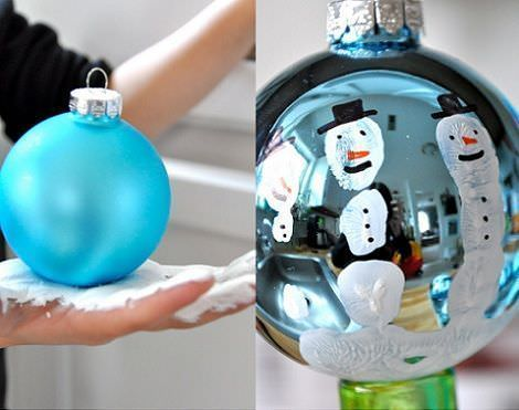 manualidades navidad faciles bolas decoradas