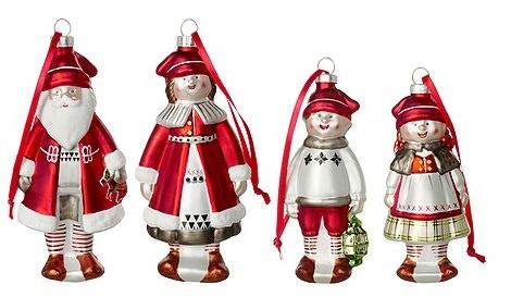 adornos de navidad muñecos para el árbol de ikea