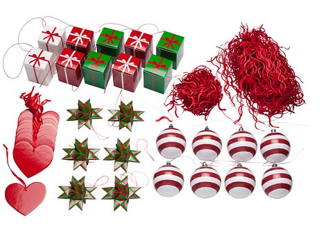 adornos de navidad variados para el árbol de ikea