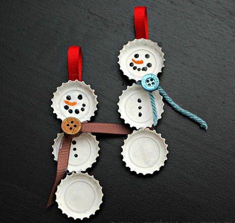 adornos de navidad caseros chapas