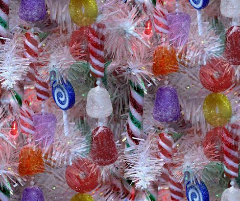 Adornos de Navidad hechos con chuches