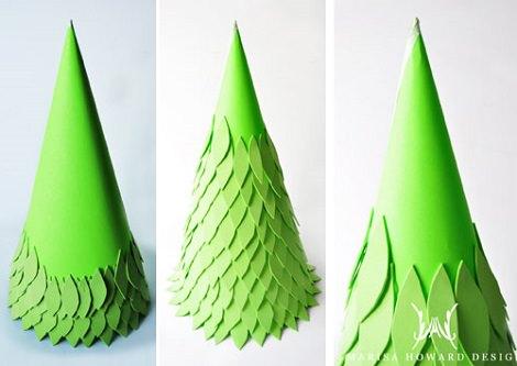 Cómo hacer un árbol de Navidad casero con los niños