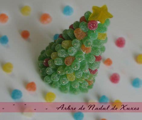 Rbol de navidad de chuches for Arboles de navidad manualidades navidenas