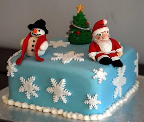 Decoración tarta de Navidad