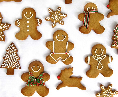 Receta f cil de galletas de navidad de jengibre - Comida para navidad facil ...
