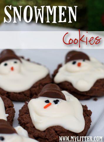 galletas de navidad decoradas muneco nieve