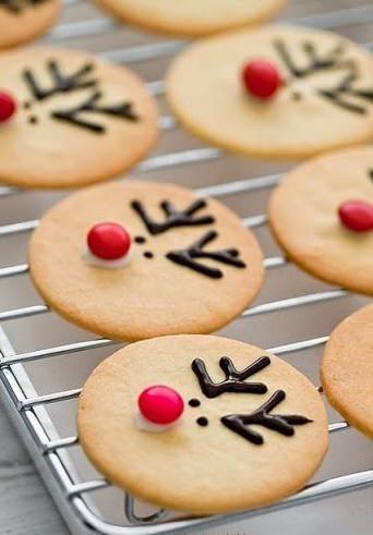galletas de navidad de reno