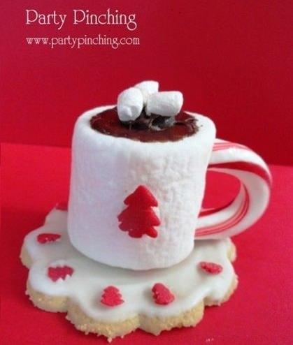 galletas de navidad taza