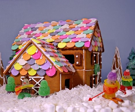casa de jengibre de navidad