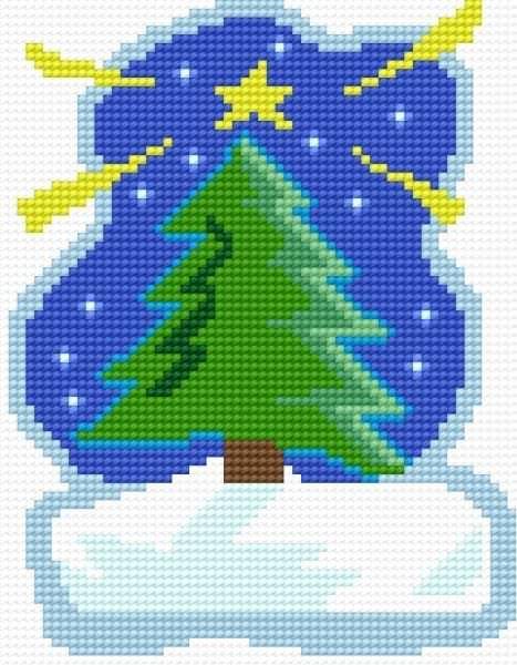 Árbol de Navidad a punto de cruz