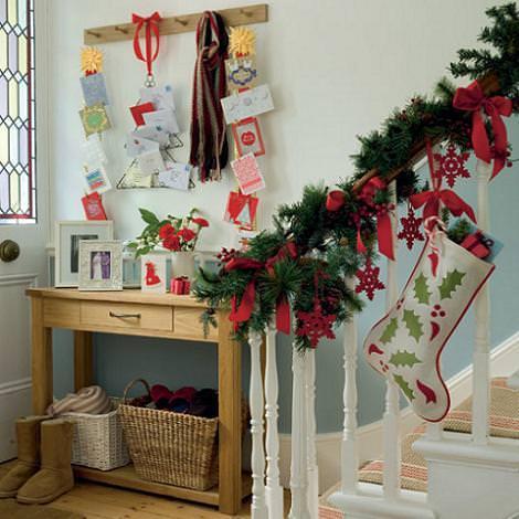 Decoración casera de Navidad