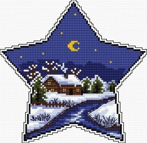 Estrella de Navidad bordado