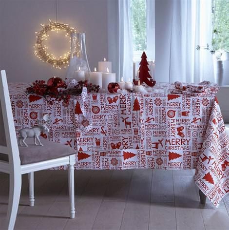 Mantel de Navidad moderno