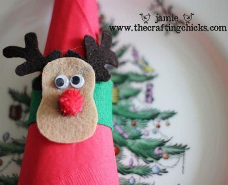 decorar la mesa en navidad servilletas