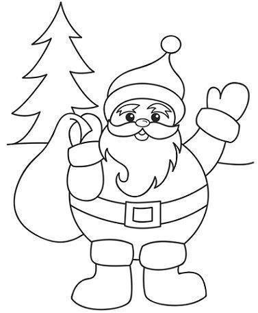 6 dibujos de navidad para colorear