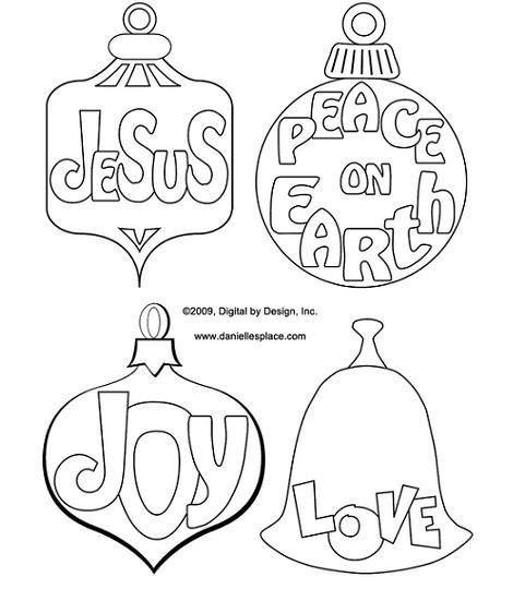 Recortables de Navidad para colorear
