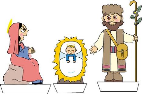 belen de navidad recortable para niños