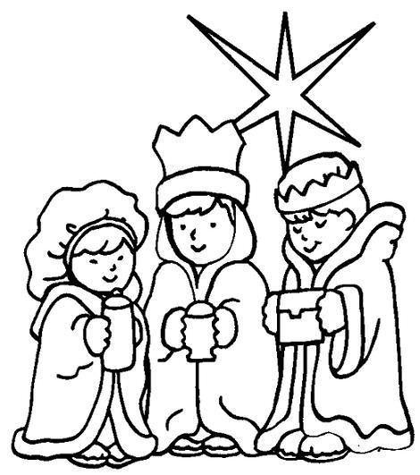 Colorear Reyes Magos con estrella
