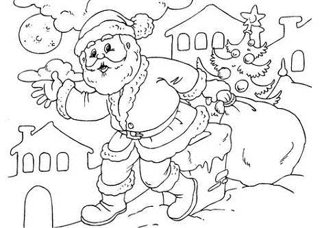 Dibujo de Santa Claus para colorear