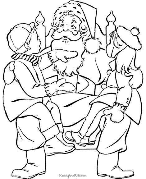 Dibujo Santa Claus