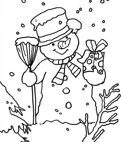 dibujos de Navidad 2013 para colorear muneco nieve