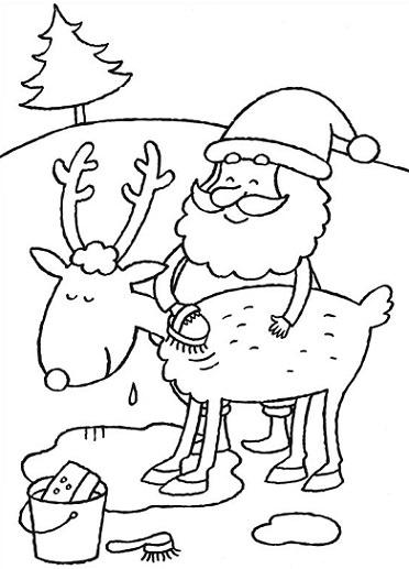 dibujos de Navidad 2013 para colorear papa noel