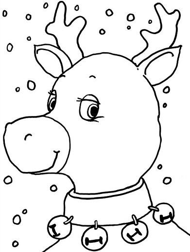 dibujos de Navidad 2013 para colorear reno