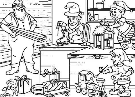 Santa Claus trabajando