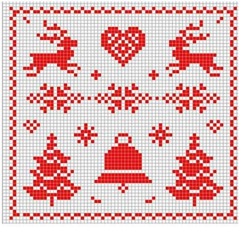 patron de punto de cruz de renos de navidad