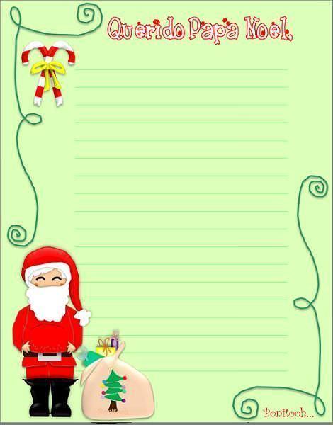Carta Papá Noel para imprimir