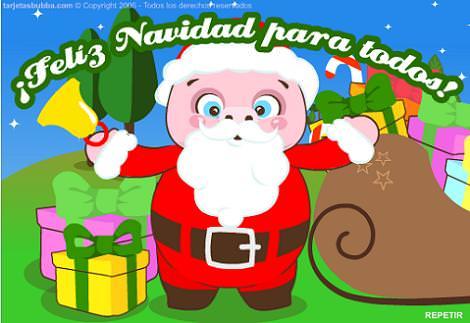 Papá Noel tarjeta animada