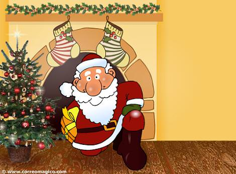 Postal animada de Navidad