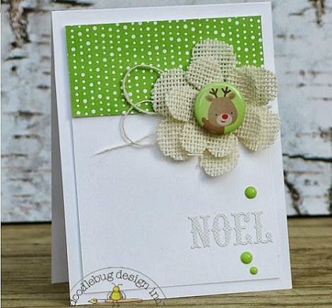postal casera de flor para navidad
