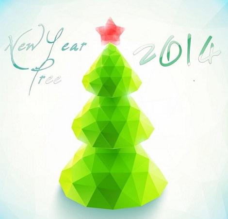 Postales de Navidad 2014 para imprimir árbol