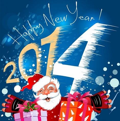 Postales de Navidad 2014 para imprimir Papá Noel
