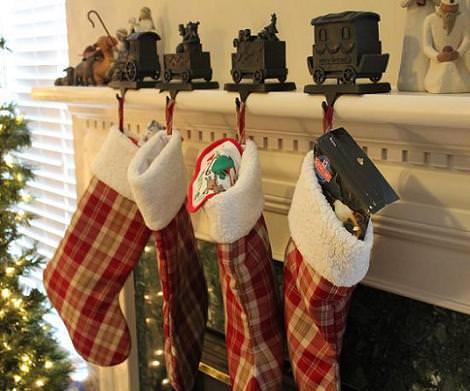 Calcetines de Navidad a cuadros