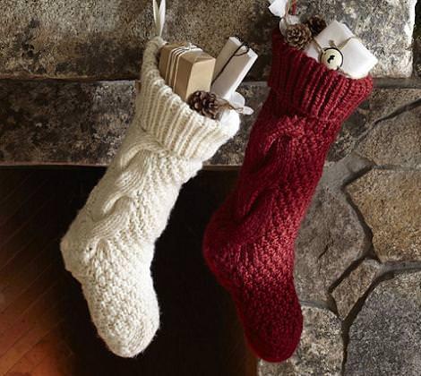 Calcetines de Navidad a ganchillo