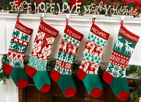 Calcetines de Navidad con nombres