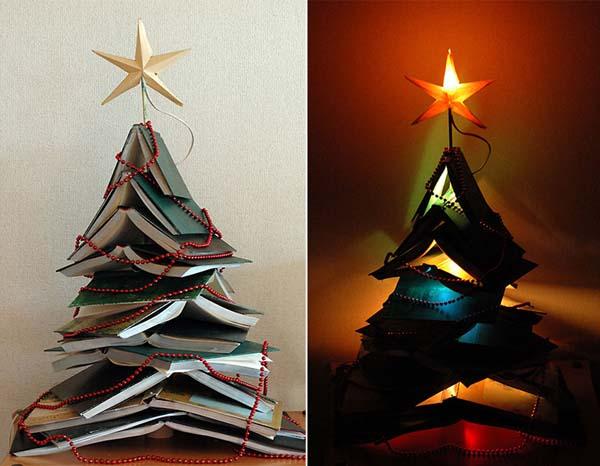 arbol-de-navidad-hecho-con-libros
