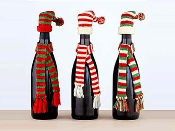 Decoraci n navide a de botellas de licor - Decoracion de botellas ...